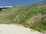 Erosionsschutz mit Wollano-Schafwollmatten an der Autobahn